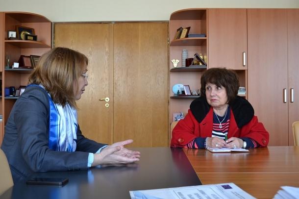 20.03.2017 - Галина Стоянова се срещна с новия директор на Института по розата