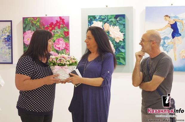 29.05.2018 - Италианската художничка Лучия Сотили подреди изложба в Казналък