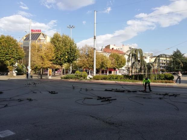 Временна организация на движението в центъра на Казанлък