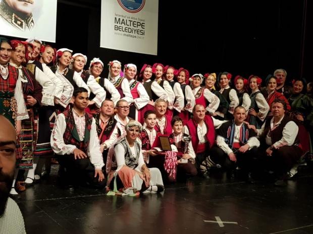С 1-во място от Международния фолклорен фестивал на изкуствата в Истанбул