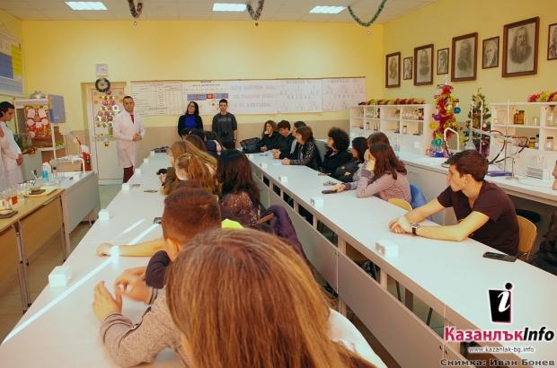 """Обновен кабинет по природни науки в ПГ """"Иван Хаджиенов"""" в Казанлък"""