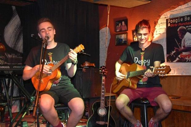 С концерт в Peppy&Vilizar Uke Duo