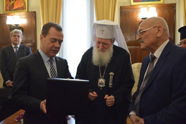 Старозагорският митрополит Киприан се срещна с премиера на Русия Дмитрий Медведев