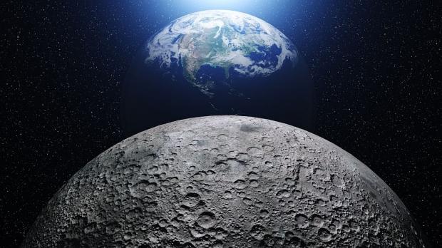 Луна към земя