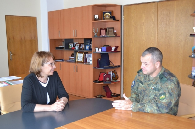 Кметът се срещна с новия командир на 61 Стрямска механизирана бригада