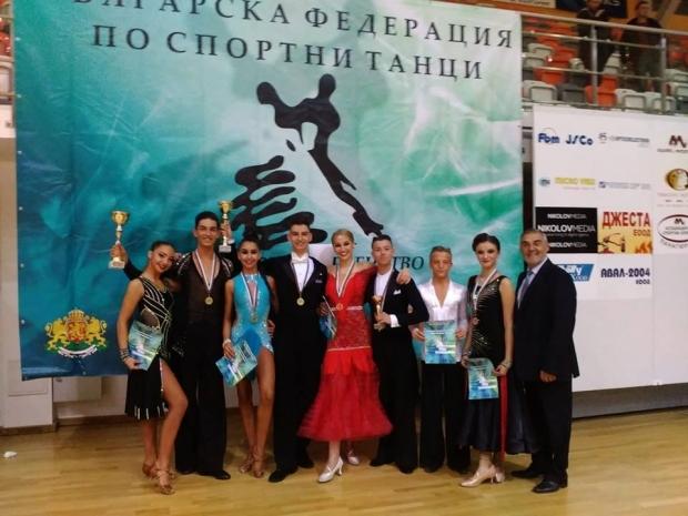 Три златни двойки и много нови медали за танцьорите от КСТ «Роза»