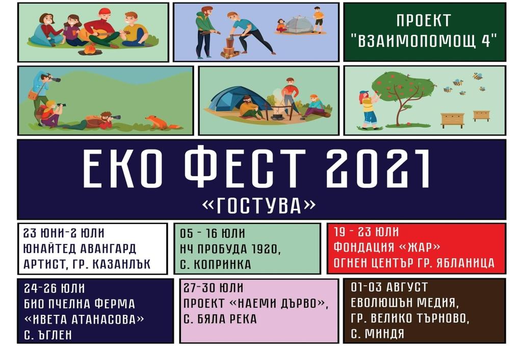 """Еко фестивала на сдружение """"Младежки център за развитие-Взаимопомощ"""" ще се проведе за 11 поредна година под мотото """" Еко фест Гостува"""""""
